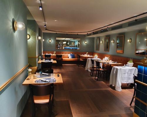 Restaurant mit 2 Meter Abstand